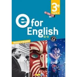 E for english.