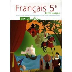 Français 5e - Livre unique.