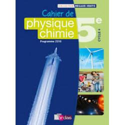 cahier de  Physique Chimie 5e