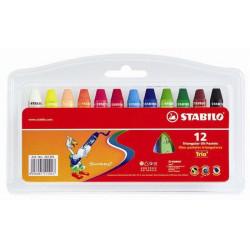 12 crayon a pastel stabilo
