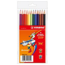 12 crayon de couleur trio...