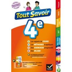 Tout savoir 4e -Edition 2016