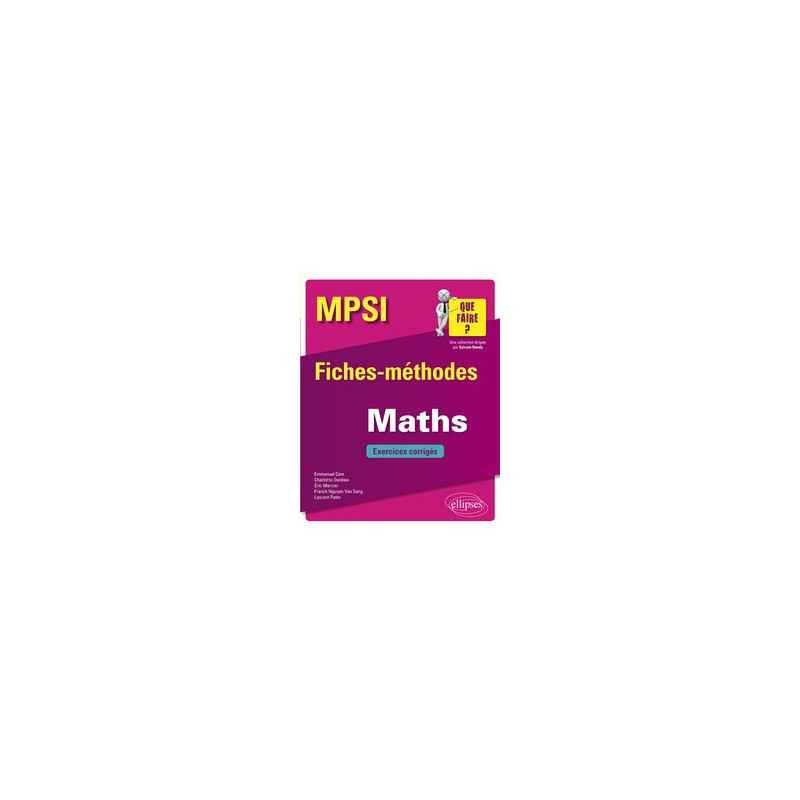 Mpsi Maths Exercices