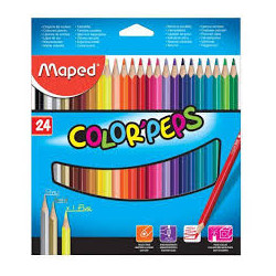crayon de couleur de 24 maped