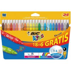 24 feutres couleurs Bic